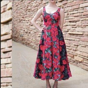 Tracy Reese Anthropologie Noisette Tea Dress Rose